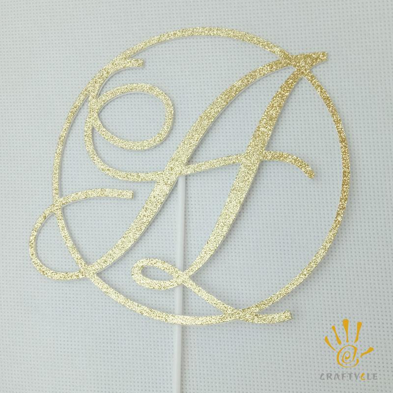 Wondrous Cake Topper Initial Letters Glitter Birthday Elegant Classy Funny Birthday Cards Online Benoljebrpdamsfinfo