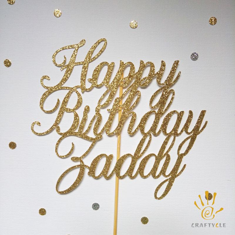 Cake topper Happy Birthday with Custom Name